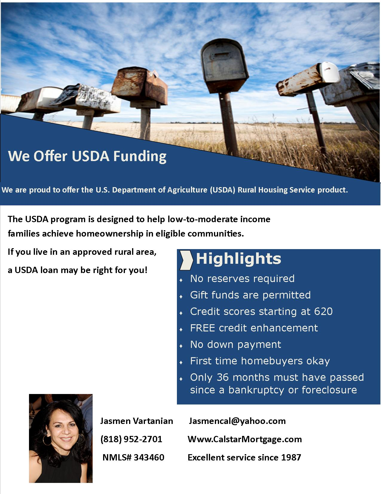 USDA Loans   CalStar Mortgage, Inc.